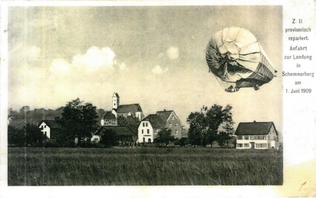 Postkarte Luftschiffer –Vorderseite