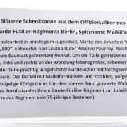 Silb. Schenkk. a. d. Offiziersilb. d. Garde-Füsilier-Regiments Berlin – 6
